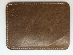 Credit Card & ID Holder Wallet Brown Color - suede flat and