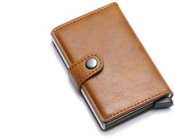 Credit Card Holder RFID Blocking Genuine Leather Vintage Alu