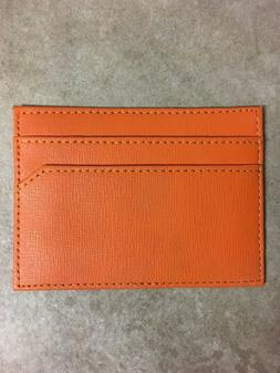 Credit Card Holder Wallet Orange Color- Thin flat and saves