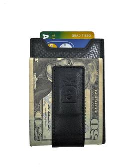 Credit Card Holder Wallet with Money Clip Minimalist Carbon