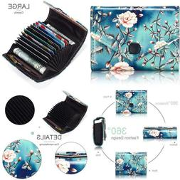 Aphison Credit Card Holder Zipper Security Travel Wallet For