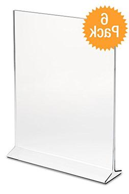 """DisplayPros 5""""x7"""" Acrylic Sign Holder, Clear Plastic Table M"""
