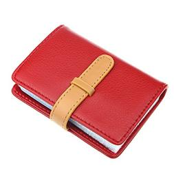 DKER PU Leather Credit Card Holder with 26 Card Slots - Book