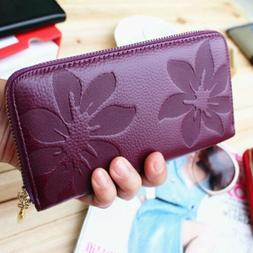 Fashion Women's Leather Clutch Wallet Long Card Holder Cases