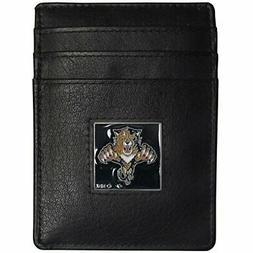 Florida Panthers Leather Money Clip/cardholder Packaged In G