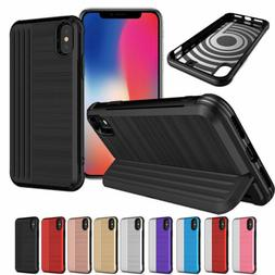 Fold Stand Case Cover with Credit Card Holder For iPhone XS