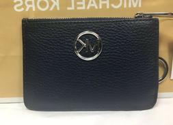 MICHAEL KORS FULTON SM COINPOUCH WITH ID KEY RING CARD HOLDE