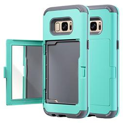 Galaxy S8 Case, ULAK S8 Wallet Case Protective Hard Dual Lay