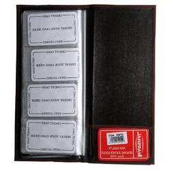 Genuine Leather Business Card Holder Book Organizer 160 Burg