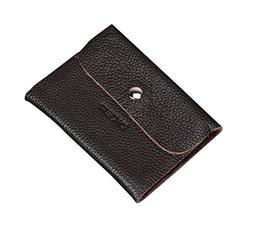 DKER Genuine Leather Credit Card Holder for Men and Women wi