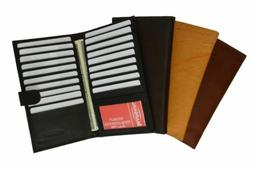 Genuine Leather Credit Card Holder Wallet 19 Card Slots + 1
