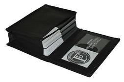 Genuine Leather Expandable Credit Card ID Business Card Hold