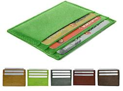 Genuine Leather Men's Thin Wallet Credit Card ID Holder Bill