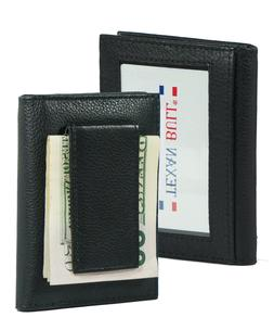genuine leather money clip slim