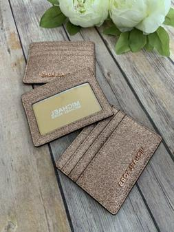 giftables card holder rose gold glitter nwt