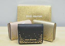 MICHAEL KORS GIFTABLES FLAP CARD HOLDER CASE SMALL WALLET