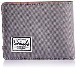 Herschel Supply Co. Men's Hank Wallet, Grey/Tan Synthetic Le