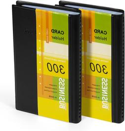 Holder Organizer Book PU Leather, 2 Pack Total for 600 Busin