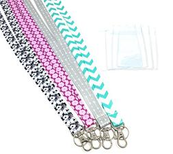 ECOHIP 4-Pack Lanyards for Women, Cute Lanyard with ID Holde