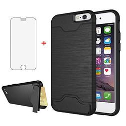 iPhone 6/6s Wallet i Phone Case with Tempered Glass Screen P
