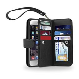 Gear Beast iPhone 6s/6 Dual Wallet Folio Slim Protective PU
