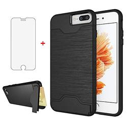 iPhone 7/8 Plus Wallet i Phone Case with Tempered Glass Scre