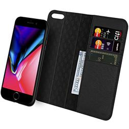 iPhone 7 8 Wallet Case ZOVER Detachable Genuine Leather Luxu