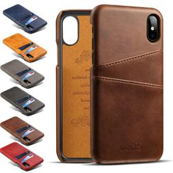 For iPhone Xs Max 7 8 Leather Wallet Card Slot Holder Flip S