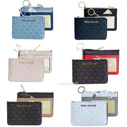 Michael Kors Jet Set Small Top Zip Coin Pouch ID Card Holder