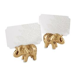 Kate Aspen Lucky Golden Elephant Place Card Holders