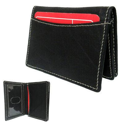 1 genuine leather credit card id business