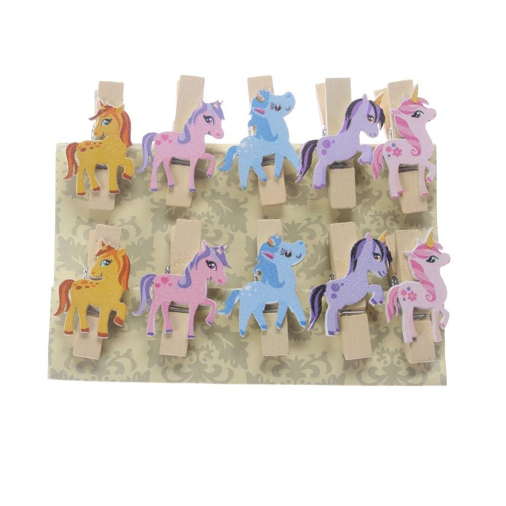 10PC Unicorn Pegs Photo Note For Wedding Party