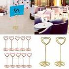 10pcs Photo Holder Stand Table Number Card Menu Clip Heart S