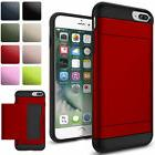 2-Credit Card Holder Case iPhone X 8 6 6s 7 Plus With Slide