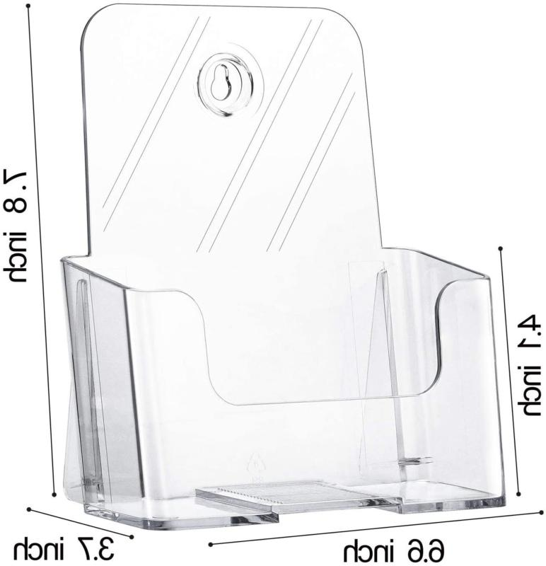 MaxGear 2 Pack Brochure Holder x 8 Inches Holder, Cle