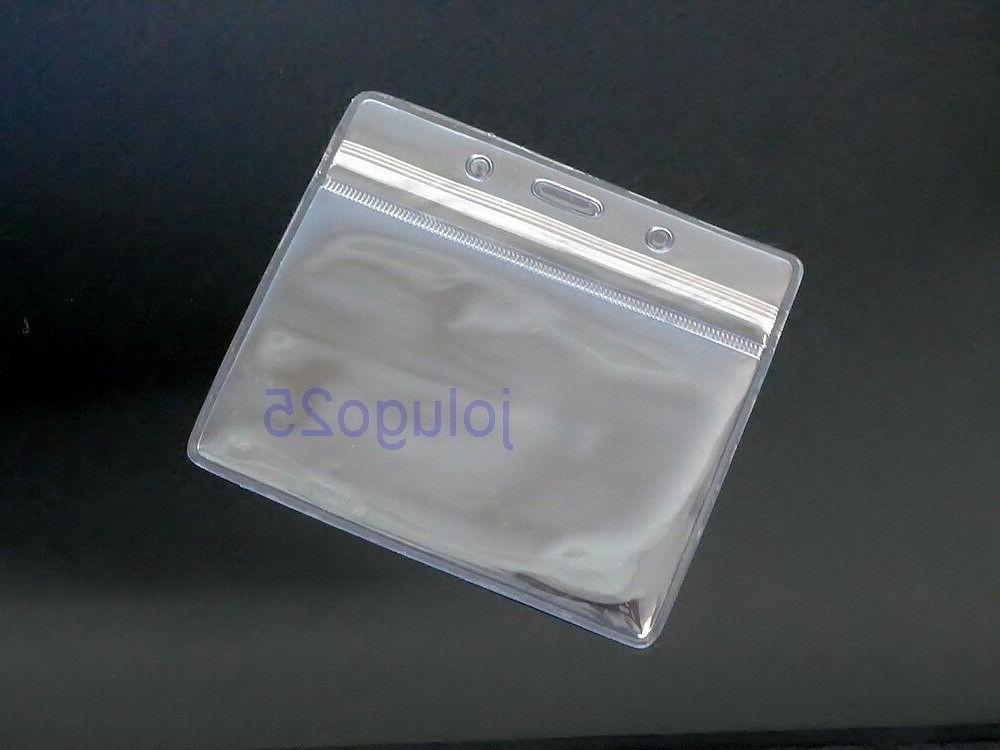 25 id badge holder clear plastic id