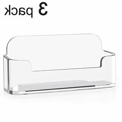 3 Pack New Clear Holder Stand
