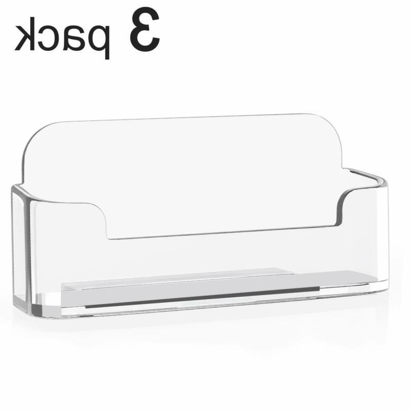 3 pack acrylic business card holder