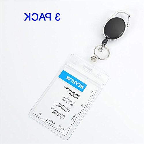 3 sets retractable badge holder