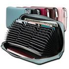 36 Card Slots Large Capacity Business Credit Card Holder Lea