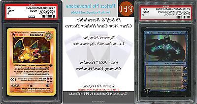 50 Perfect Fit Clear View PSA Graded Gaming Card Holder Slee