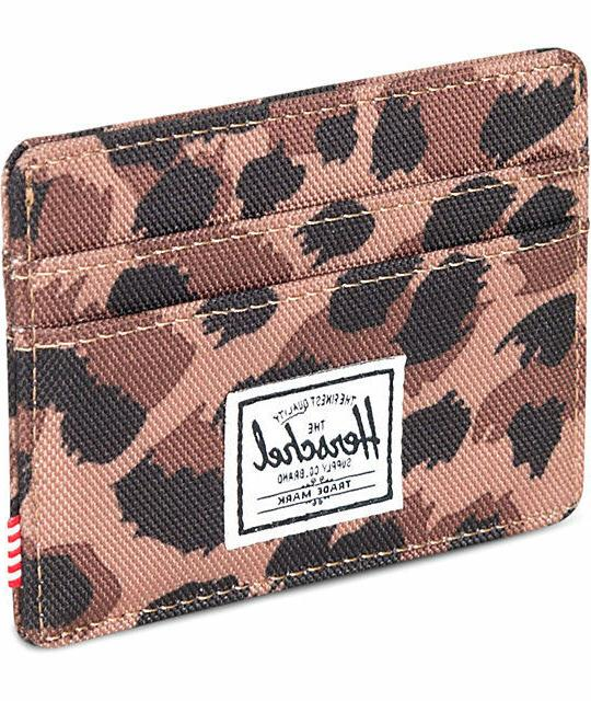 NWT Herschel Supply Charlie Leopard Case