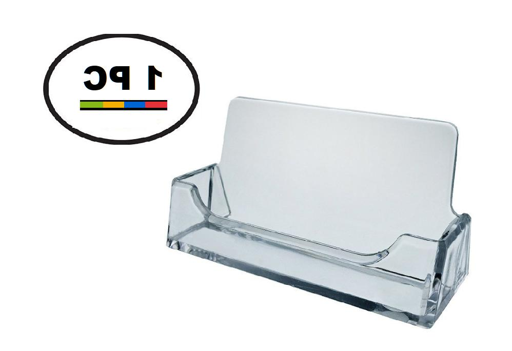 One Acrylic Plastic Business Card Holder T'z Tagz Style, Cle