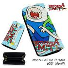 Adventure Time Leather Zipper Wallet Bag Purse Long Card Hol