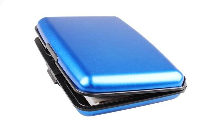 Aluminum Metal Wallet Business ID Card Holder Anti RFID Scanning