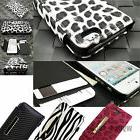 For Apple iPhone 4 4S 5 5S Case Leather Credit Card Slot Hol