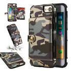 Army Camouflage Camo Card Holder Wallet Case Back Cover For