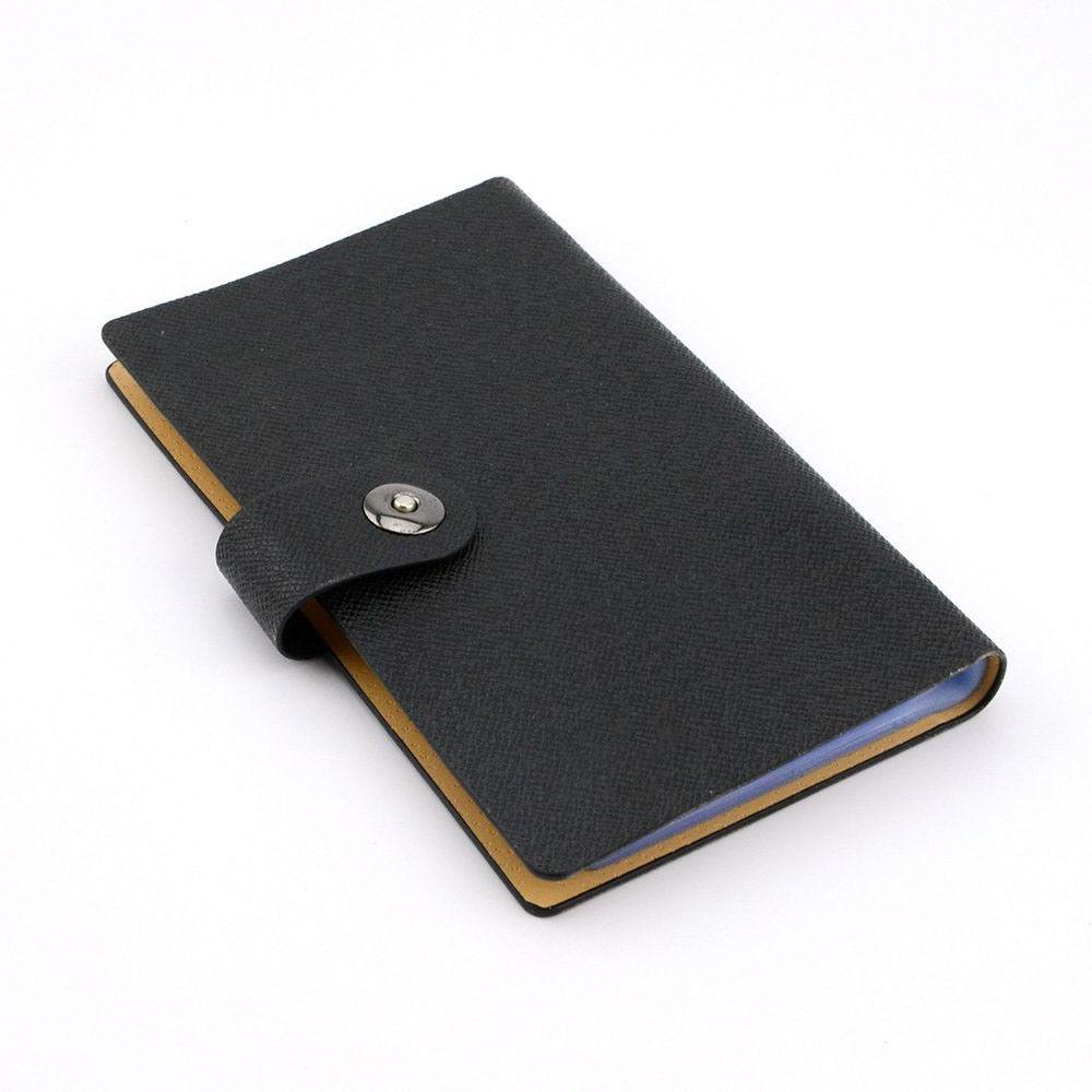 Black Business Card Book 240 Name buckle