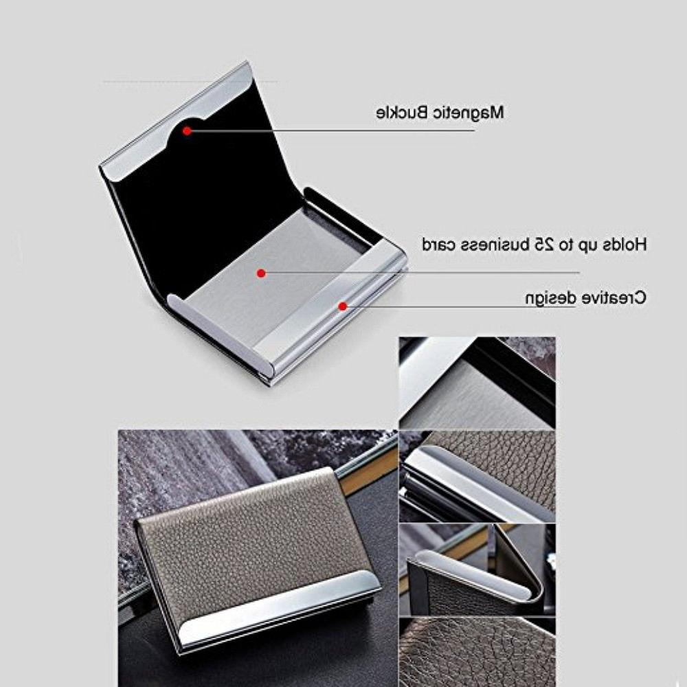 Black Metal Business Card Holder Case