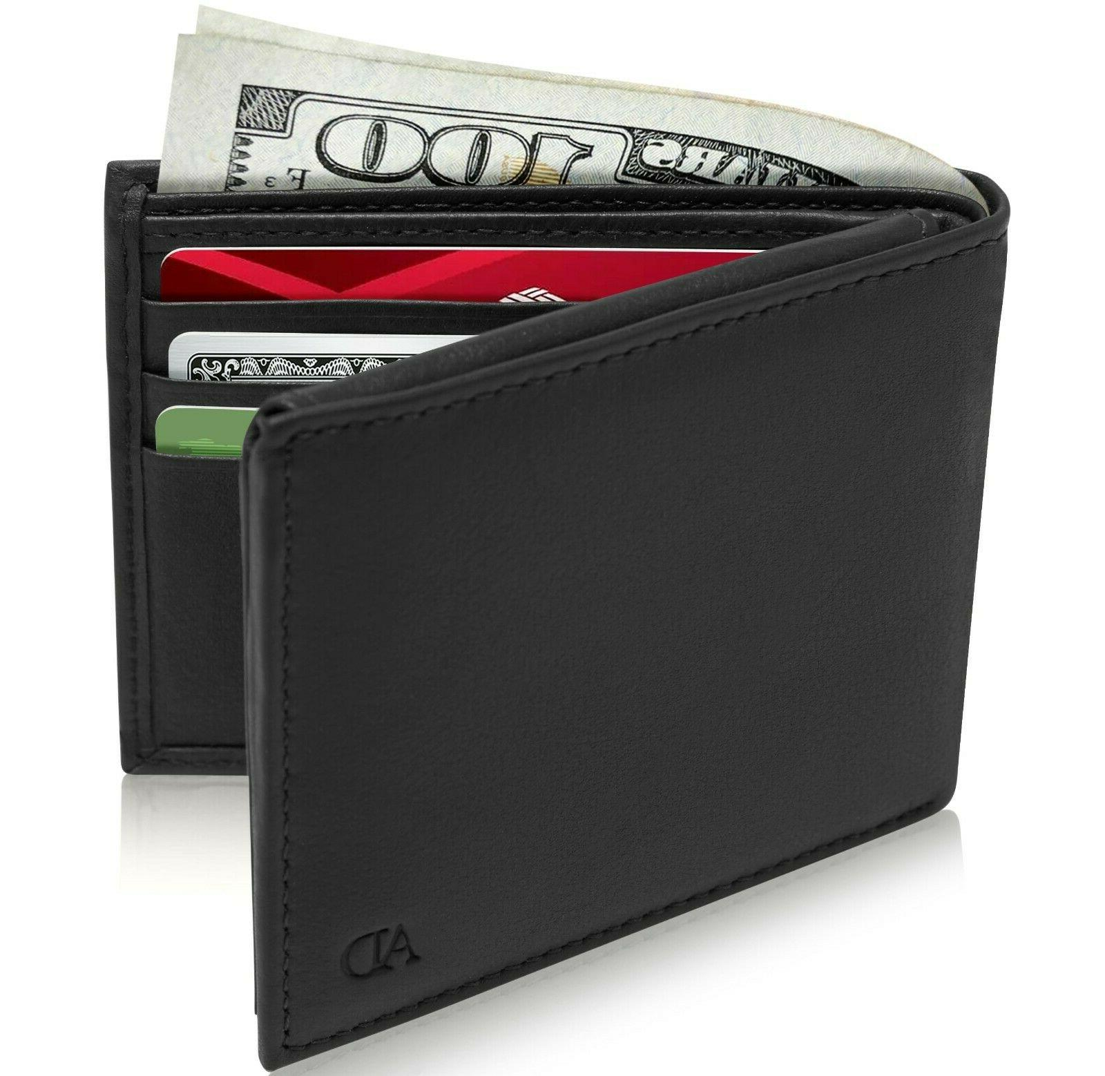 brand new genuine leather mens wallets credit